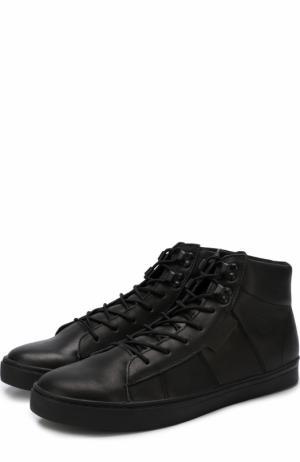Высокие кожаные кеды Ireland на шнуровке Affex. Цвет: черный