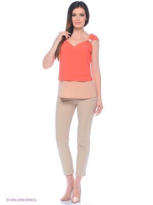 Блузка Valeria Lux 72050. Цвет: красный