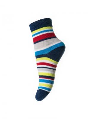 Носки PlayToday. Цвет: синий, желтый, красный