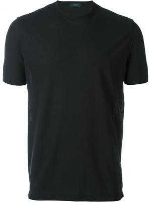 Базовая футболка Zanone. Цвет: чёрный
