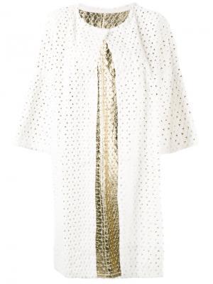 Пальто с перфорацией Yves Salomon. Цвет: белый