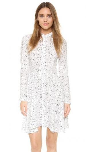 Платье Linda Rolla's. Цвет: белый, горошек