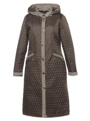 Пальто AMALIA COLLECTION. Цвет: коричневый