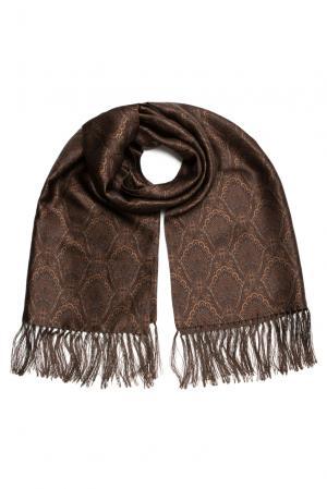Шелковый шарф-кашне 158186 Zilli. Цвет: коричневый