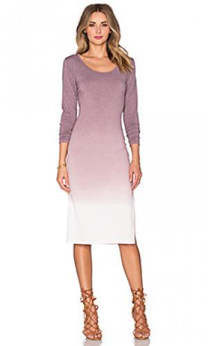 Миди платье с длинным рукавом Saint Grace. Цвет: сиреневый