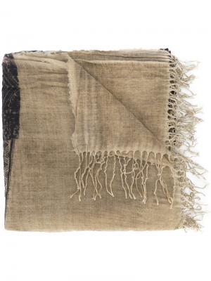 Шарф с бахромой Uma Wang. Цвет: коричневый