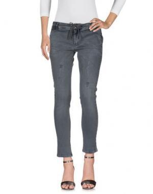 Джинсовые брюки MET & FRIENDS. Цвет: серый