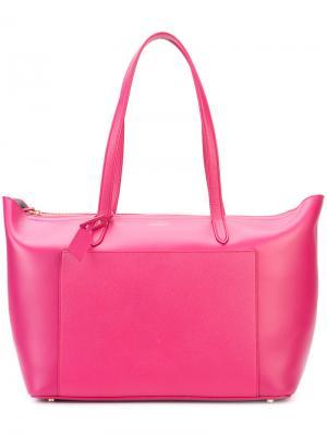 Сумка-тоут Panama East West Smythson. Цвет: розовый и фиолетовый