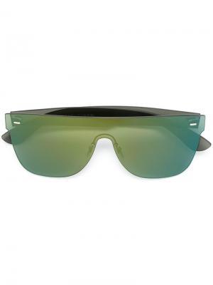 Солнцезащитные очки Tuttolente Flat Top Retrosuperfuture. Цвет: зелёный