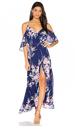 Макси платье endless love Yumi Kim. Цвет: синий
