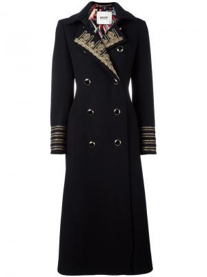 Двубортное пальто Bazar Deluxe. Цвет: чёрный