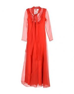 Длинное платье ANNA MOLINARI BLUMARINE. Цвет: красный