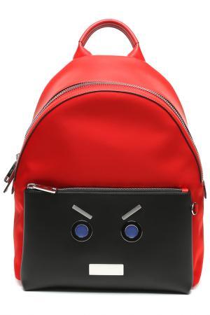 Рюкзак Fendi. Цвет: f051u red black