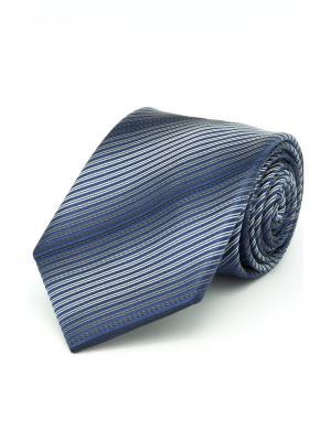 Галстук Angelo Bonetti. Цвет: белый, синий, серый