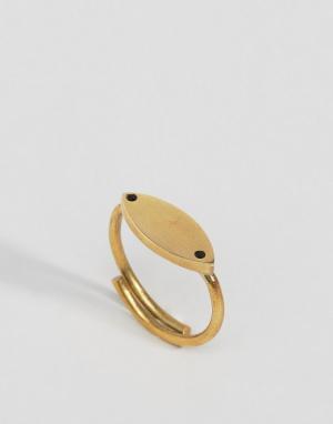Made Кольцо с листиком. Цвет: золотой