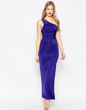 Binky Платье макси на одно плечо for Lipstick Boutique Richmond. Цвет: синий