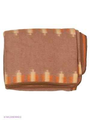 Одеяло Сукно. Цвет: светло-коричневый, оранжевый
