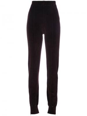 Спортивные брюки со стрелками Yeezy. Цвет: розовый и фиолетовый