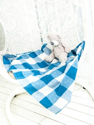 Плед ARLONI. Цвет: синий, белый