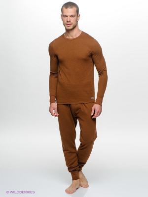 Термобелье-брюки Guahoo. Цвет: коричневый