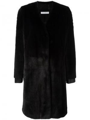 Норковое пальто Alambic Ines & Marechal. Цвет: синий
