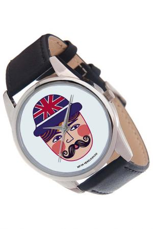Часы Румяный-усатый MITYA VESELKOV. Цвет: черный