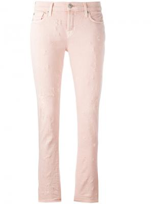 Джинсы Ripped Riley Hudson. Цвет: розовый и фиолетовый