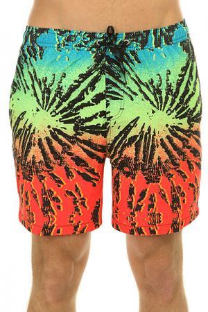 Шорты пляжные  Glitchedvl17 Glitched Fiery Coral Quiksilver. Цвет: мультиколор