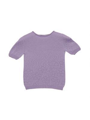 Вязаная футболка R&I. Цвет: сиреневый