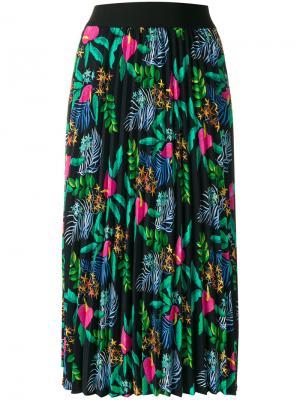 Плиссированная юбка с вышивкой Essentiel Antwerp. Цвет: многоцветный