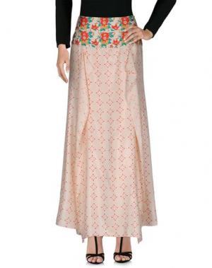 Длинная юбка INTROPIA. Цвет: светло-розовый