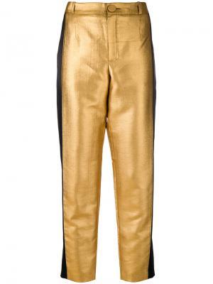 Прямые брюки Lanvin. Цвет: металлический