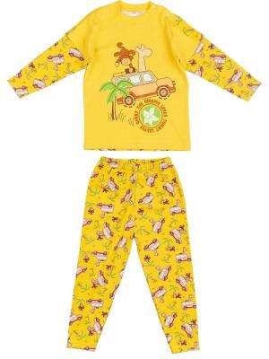 Пижама Babycollection. Цвет: желтый