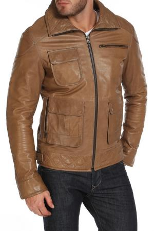 Куртка Izeta. Цвет: бежевый
