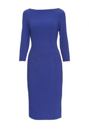 Платье из искусственного шелка с вискозой и хлопком 172207 Cavo. Цвет: синий