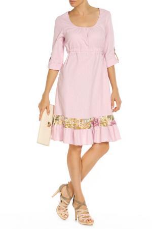 Платье Disetta. Цвет: розовый