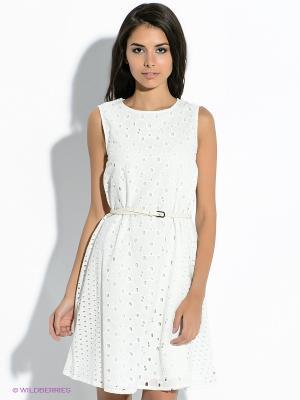Платье Tommy Hilfiger. Цвет: молочный