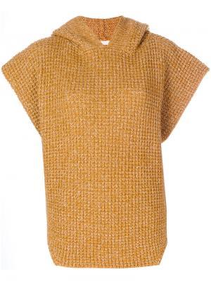 Свитер-пончо с капюшоном See By Chloé. Цвет: жёлтый и оранжевый