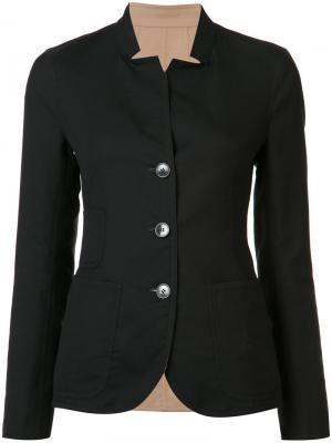 Приталенная куртка на пуговицах Akris. Цвет: чёрный
