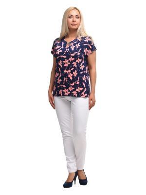 Блузка OLSI. Цвет: темно-синий, розовый