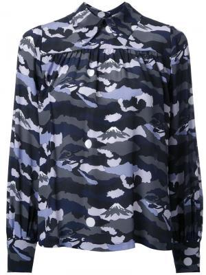 Рубашка с узором Maison Kitsuné. Цвет: многоцветный