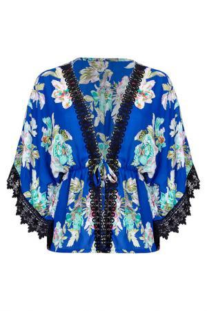 Блуза Iska. Цвет: синий