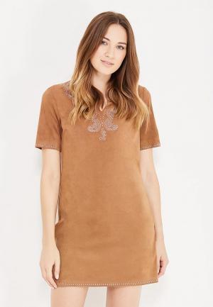 Платье oodji. Цвет: коричневый