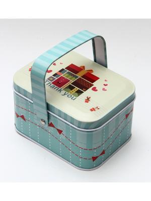 Коробка для безделушек и мелочей Подарки Magic Home. Цвет: голубой, белый