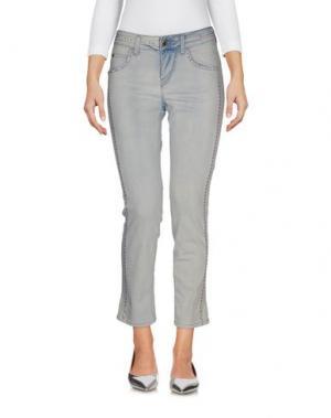 Джинсовые брюки ANGELO MARANI. Цвет: синий