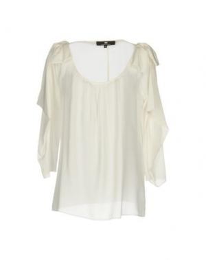 Блузка ELISABETTA FRANCHI. Цвет: слоновая кость