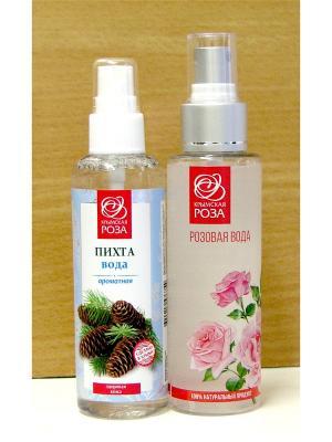 Набор Вода розовая натуральная +Вода ароматная Пихта Крымская Роза. Цвет: белый