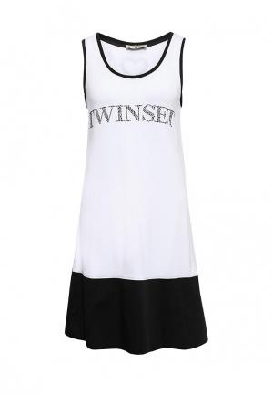 Платье пляжное Twin-Set Simona Barbieri. Цвет: черно-белый