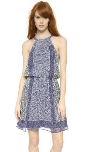 Платье из крепа с цветочным принтом Makana C Joie. Цвет: лимонный леденец