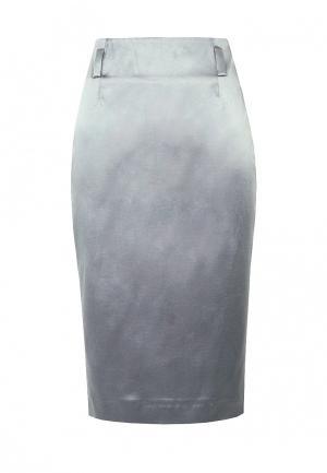 Юбка LO. Цвет: серый